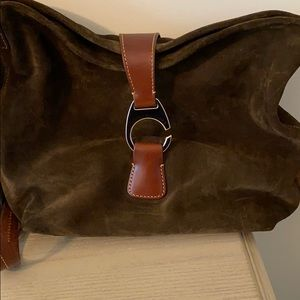 Dooney and Bourke leather and suede cross body